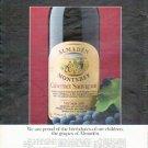 "1979 Almaden Wine Ad ""proud of the birthdates"""