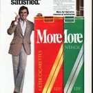 "1979 More Cigarettes Ad ""I'm More satisfied"""