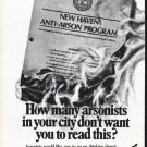 "1979 Aetna Insurance Ad ""How many arsonists"""