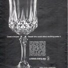 "1979 Cristal d'Arques Ad ""People who could afford anything"""