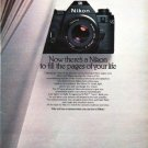 "1979 Nikon Camera Ad ""Now there's a Nikon"""