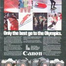 "1979 Canon Camera Ad ""Only the best"""