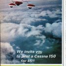 """1966 Cessna Ad """"We invite you"""""""