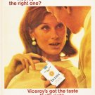 """1966 Viceroy Cigarettes Ad """"the right one"""""""