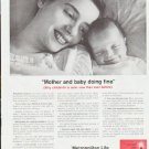 "1959 Metropolitan Life Insurance Ad ""Mother and baby"""
