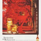 """1959 Seagram's Whiskey Ad """"Invitation to Relaxation"""""""