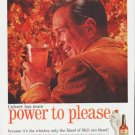 "1959 Calvert Reserve Whiskey Ad ""power to please"""
