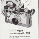 "1959 Argus Camera Ad ""Easy to set as a clock"""