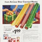 "1959 Armour Star Canned Meats Ad ""Gift Wrap Offer"""