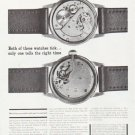 """1959 The Watchmakers of Switzerland Ad """"Both of these watches tick"""""""