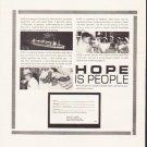 "1964 Hope Hospital Ship Ad ""Hope Is People"""
