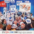 "1964 Budweiser Ad ""It's Pick-A-Pair Time!""  2557"