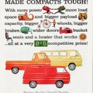 """1964 Dodge Trucks Ad """"1964 -- The Year Dodge Made Compacts Tough!""""  2558"""
