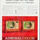 "1964 Admiral TV Ad ""three new major improvements""  2559"