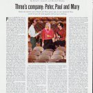 "1964 Peter, Paul and Mary Article ""Three's company""  2563"
