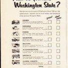 "1953 Washington State Ad ""How do you rate Washington State""  2578"