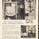 "1953 Crane Company Ad ""Compartment Bathroom""  2600"