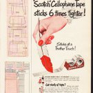 "1953 Scotch Tape Ad ""New Formula""  2601"