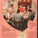 """1953 Crosley Freezer Ad """"Dinner for 6""""  2610"""