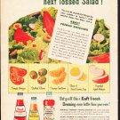 """1953 Kraft Ad """"Tossed Salad""""  2612"""