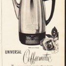 """1953 Universal Coffeematic Ad """"on America's Smartest Tables""""  2613"""