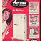 "1953 Amana Freezer Ad ""Here's Why""  2614"