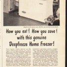 "1953 Deepfreeze Ad ""How you eat""  2622"