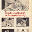 """1953 Waste King Ad """"Eliminate garbage""""  2623"""