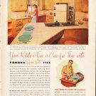 """1953 Pomona Tile Ad """"Your Kitchen-Time""""  2637"""