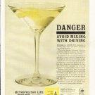 """1961 Metropolitan Life Ad """"Danger""""  2651"""