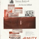 "1961 Amity Leather Products Ad ""his favorite billfold""  2653"