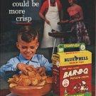 """1961 Blue Bell Potato Chips Ad """"more crisp""""  2670"""