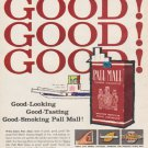 "1961 Pall Mall Cigarettes Ad ""Taste Pall Mall""  2696"