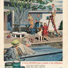 "1961 Benjamin Moore Ad ""A little MOORE paint""  2707"