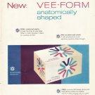 """1961 Modess Ad """"anatomically shaped""""  2719"""