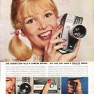 "1962 Revere Movie Camera Ad ""a perfect movie""  2722"