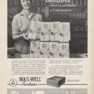 "1962 Mail-Well Envelopes Ad ""speed up packaging""  2730"