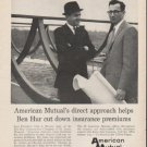 "1962 American Mutual Ad ""attacks high costs""  2735"