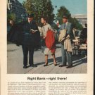"1962 First National City Bank Ad ""Right Bank""  2743"