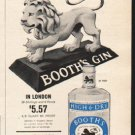 "1962 Booth's Gin Ad ""High & Dry""  2750"