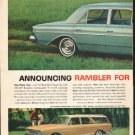 "1963 Rambler Ad ""The New Shape Of Quality"" ~ (model year 1963)  2752"