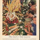 "1962 Air France Ad ""Have lunch in Tahiti tomorrow""  2758"