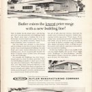 """1962 Butler Manufacturing Company Ad """"lowest price range""""  2764"""