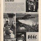 "1962 British Overseas Airways Corporation Ad ""Jet Bridge""  2772"