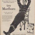 """1960 Marlboro Cigarette """"Filters Came In"""" Ad"""