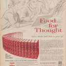 """1960 Encyclopedia Americana """"Food For Thought"""" Ad"""