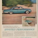 "1960 Ford Thunderbird ""Spirited Performance"" Ad"