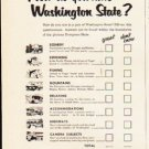 "1953 Washington State Ad ""How do you rate Washington State"""