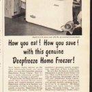 "1953 Deepfreeze Ad ""How you eat"""