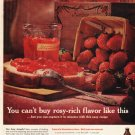 """1961 Sure-Jell Ad """"rosy-rich flavor"""""""